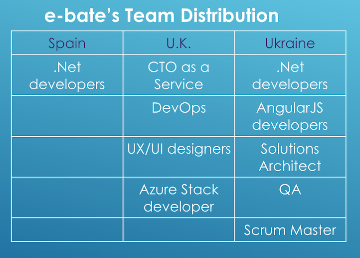 distributed development team structure